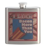I Like BACON M T Y Flask