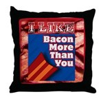 I Like BACON M T Y Throw Pillow