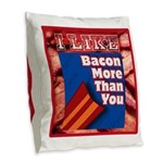I Like BACON M T Y Burlap Throw Pillow