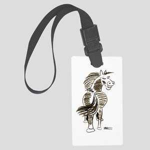 Winking Horse Good Luck! Luggage Tag