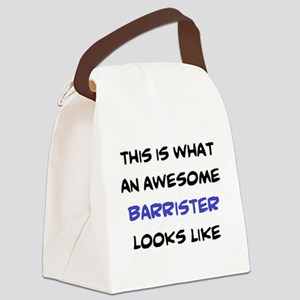 awesome barrister Canvas Lunch Bag