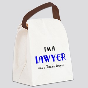 just a lawyer Canvas Lunch Bag