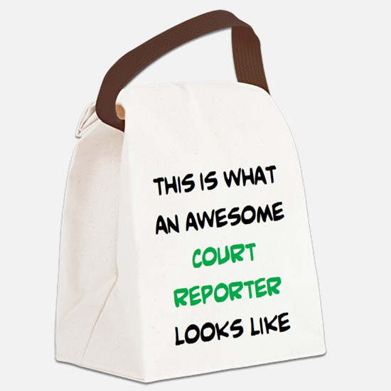 Funny Reporter Canvas Lunch Bag