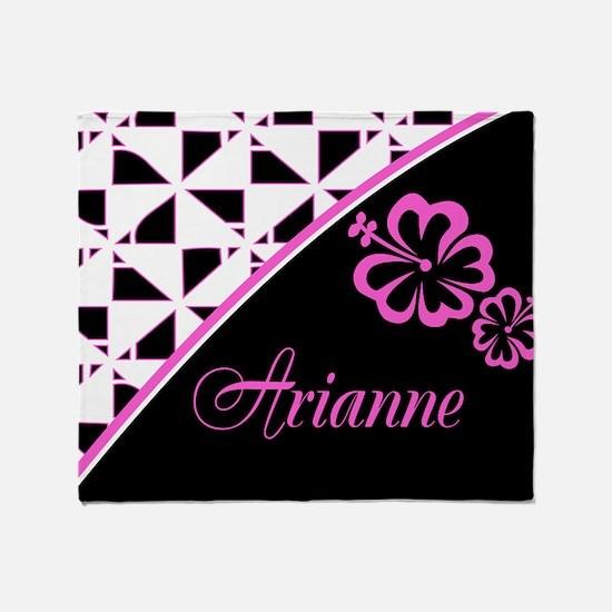 Stylish Hibiscus Pink N Black - Custom Throw Blank
