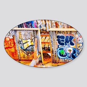 Charles river Graffiti  Sticker (Oval)