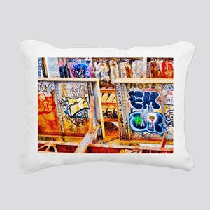 Charles river Graffiti  Rectangular Canvas Pillow