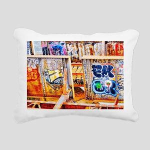 Charles river Graffiti  Rectangular Canvas Pillow