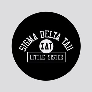 "Sigma Delta Tau Big Sister Athletic 3.5"" Button"
