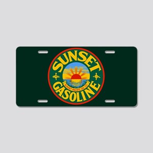 Sunset Gasoline Aluminum License Plate