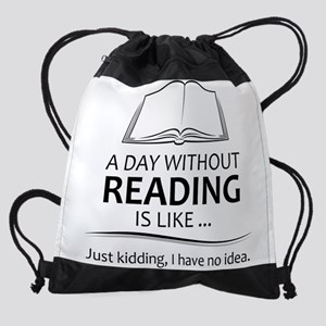 Gifts for Readers Drawstring Bag