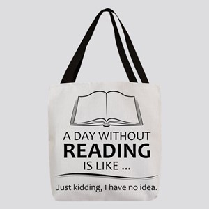 Gifts for Readers Polyester Tote Bag