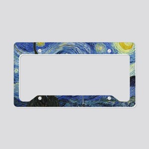 Van Gogh's Starry Night License Plate Holder