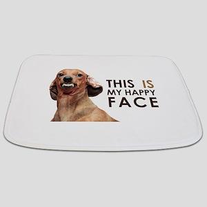 Happy Face Dachshund Bathmat