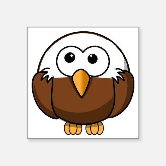 """Bald Eagle Square Sticker 3"""" x 3"""""""