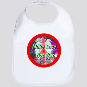 Make Love Not War Three Grace Bib
