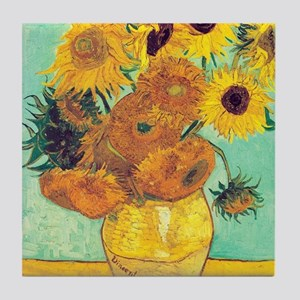 Sunflowers by Vincent Van Gogh Tile Coaster