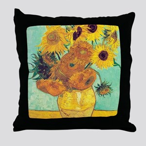 Sunflowers by Vincent Van Gogh Throw Pillow
