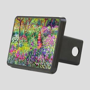 The Iris Garden by Claude  Rectangular Hitch Cover
