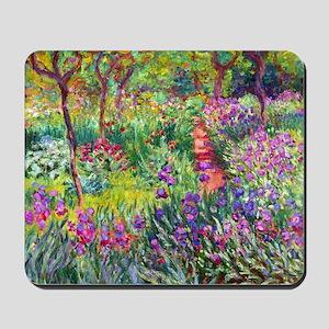 The Iris Garden by Claude Monet Mousepad
