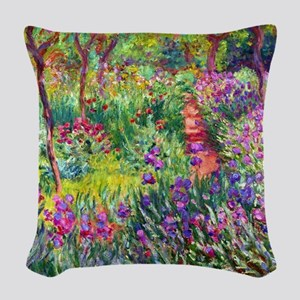 The Iris Garden by Claude Mone Woven Throw Pillow