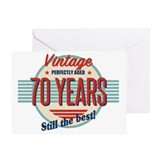 70th birthday best Greeting Cards