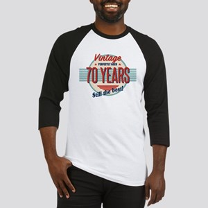 Funny 70th Birthday Old Fashioned Baseball Jersey