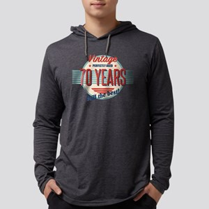 Funny 70th Birthday Old Fashio Long Sleeve T-Shirt