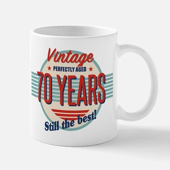 Funny 70th Birthday Old Fashioned Mugs