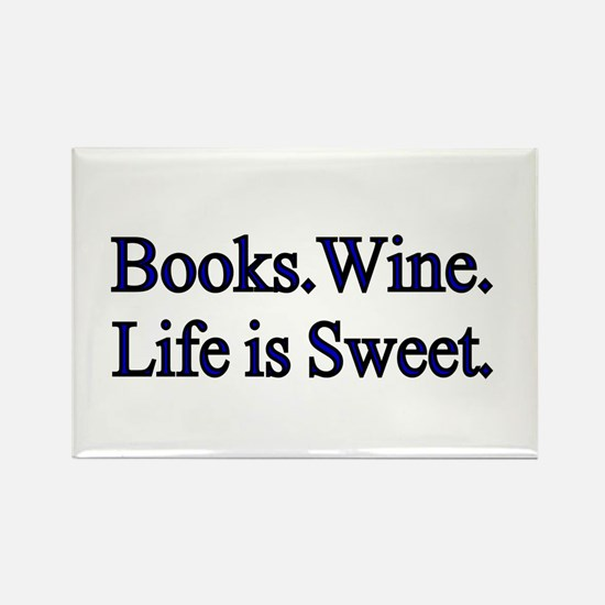 Books.Wine. LIfe is Sweet. Magnets
