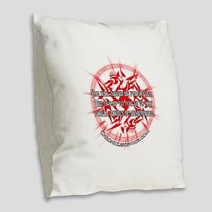 CON Burlap Throw Pillow