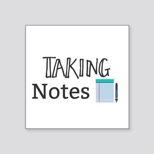 Taking Notes Sticker