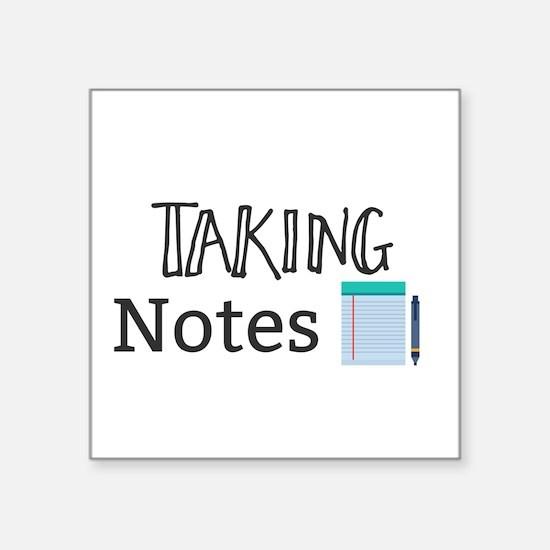 Taking Notes Sticker