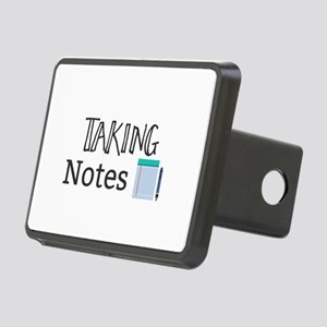 Taking Notes Rectangular Hitch Cover