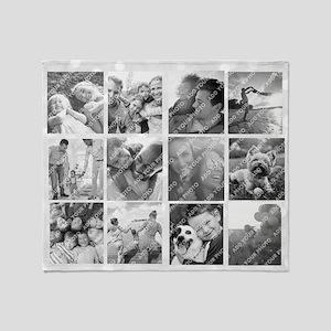 Photo Collage Throw Blanket