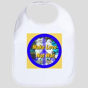 Make Love Not War King's Gold Bib
