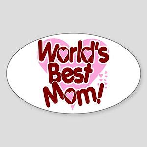 World's BEST Mom! Oval Sticker