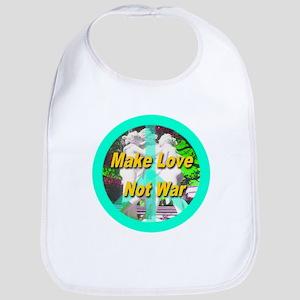 Make Love Not War Peace Symbo Bib