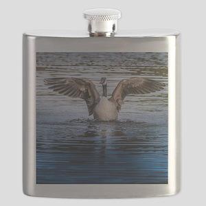 Hug of canadian geese Flask