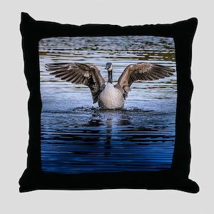 Hug of canadian geese Throw Pillow