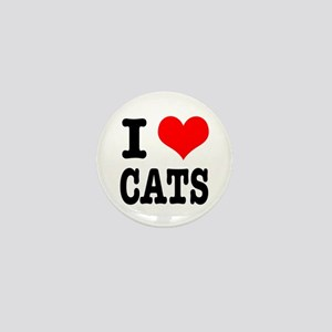 I Heart (Love) Cats Mini Button