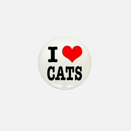 I Heart (Love) Cats Mini Button