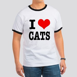 I Heart (Love) Cats Ringer T