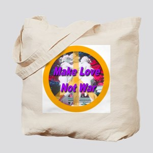 Make Love Not War Peace Symbo Tote Bag