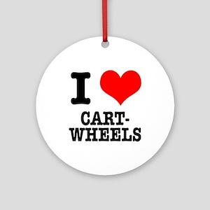 I Heart (Love) Cartwheels Ornament (Round)