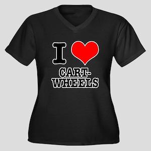 I Heart (Love) Cartwheels Women's Plus Size V-Neck