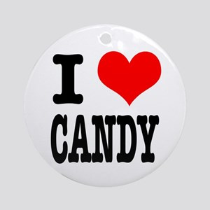 I Heart (Love) Candy Ornament (Round)
