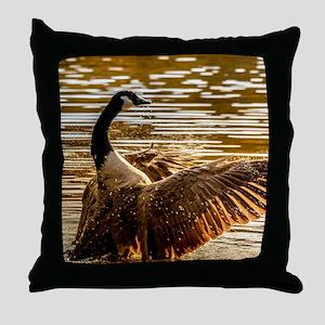 Canadian geese Throw Pillow