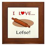I Love Lefse Framed Tile