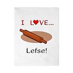 I Love Lefse Twin Duvet