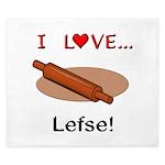I Love Lefse King Duvet